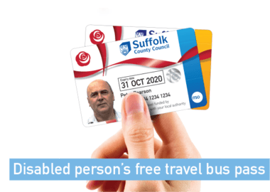 Disabled Person's Free Travel Bus Pass
